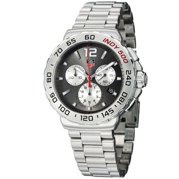 Tag Heuer Men's 'Formula 1' Grey Dial Stainless Steel Quartz Watch