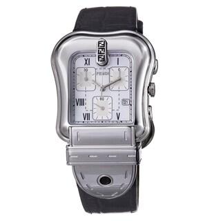 Fendi Women's F391141 'B. Fendi' Mother Of Pearl Dial Chronograph Quartz Watch