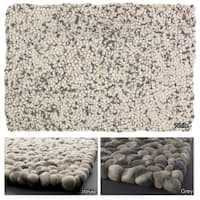 Artist's Loom Hand-woven  Contemporary Reversible Wool Rug