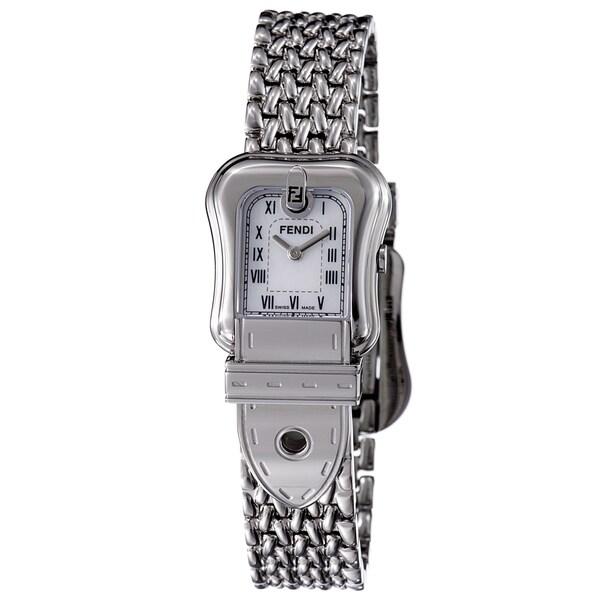 Fendi Women's 'B. Fendi' Mother Of Pearl Dial Water-resistant Stainless Steel Watch