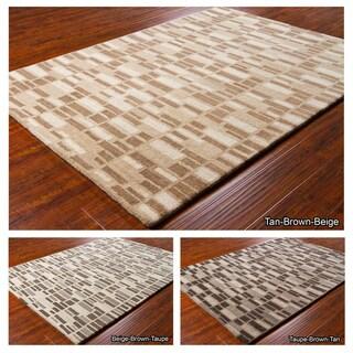 Artist's Loom Hand-tufted Contemporary Geometric Wool Rug