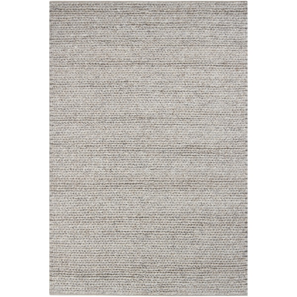 Artist's Loom Hand-woven Contemporary Abstract Wool Rug
