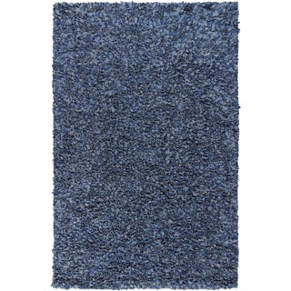 Artist's Loom Hand-woven Natural Eco-friendly Cotton Shag Rug (5'x7'6)