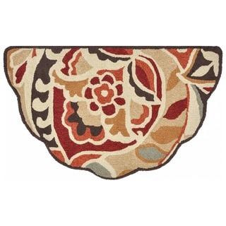 Hand-hooked Savannah Red/ Multi Rug (2'3 x 3'9)