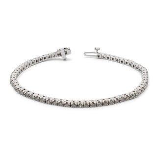 Auriya 14k White or Yellow Gold 2ct TDW Diamond Tennis Bracelet