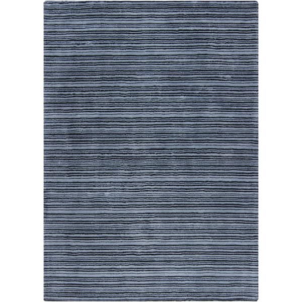 Artist's Loom Hand-woven Contemporary Stripes Rug