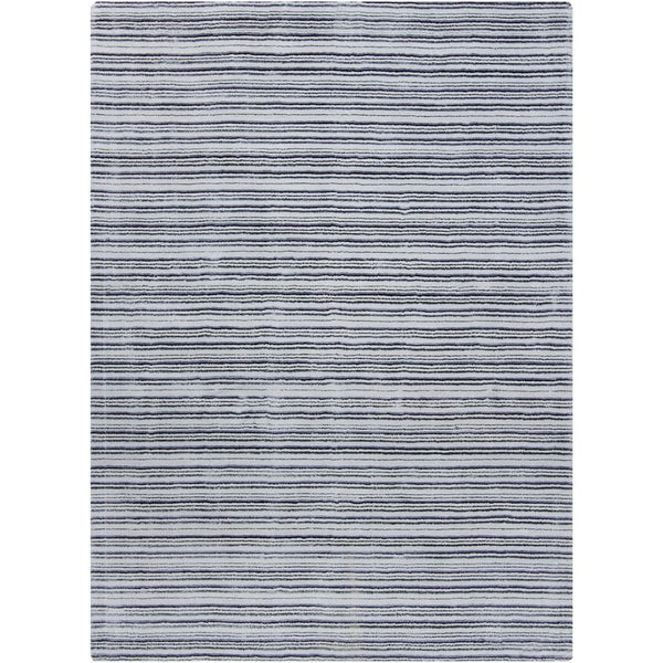 Artist's Loom Hand-woven Contemporary Stripes Rug (7' x 10')