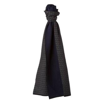 Fendi Black/ Navy Zucchino Wool Knit Scarf