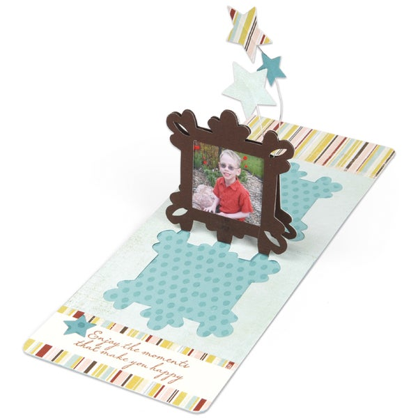 Sizzix Pop'n Cuts 3-D Magnetic Insert Die-Square Ornate Frame
