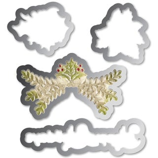 Sizzix Framelits Dies 4/Pkg With Textured Impressions Folder-Ornaments #2