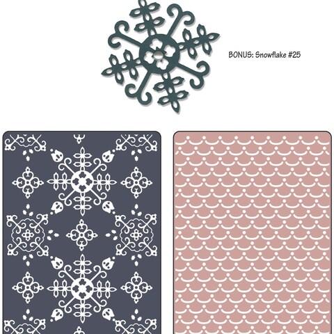 Sizzix Textured Impressions/Bonus Sizzlits By Basic Grey-Nordic Holiday Santa Lucia, Moguls