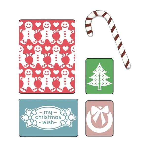 Sizzix Textured Impressions/Bonus Sizzlits By Basic Grey-Nordic Holiday My Christmas Wish