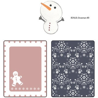 Sizzix Textured Impressions/Bonus Sizzlits By Basic Grey-Nordic Holiday Gingerbread Man, Flowers