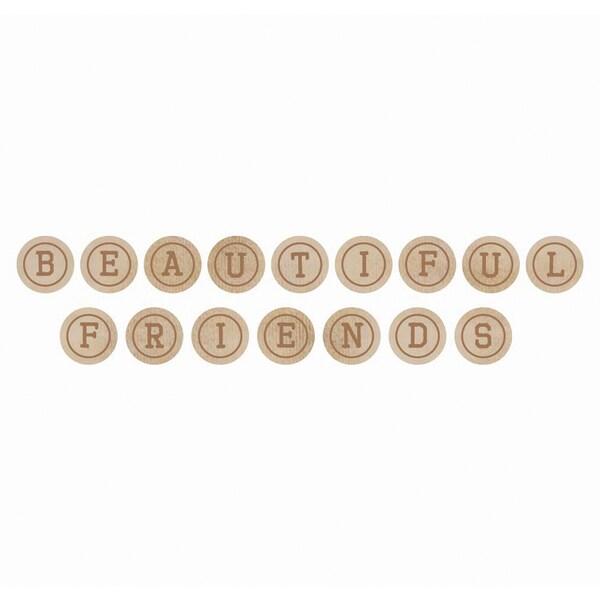 Wooden Letters-Friends Words: Beautiful, Friends