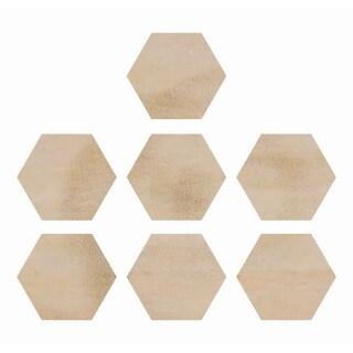 Wood Flourishes-Hexagons 7/Pkg