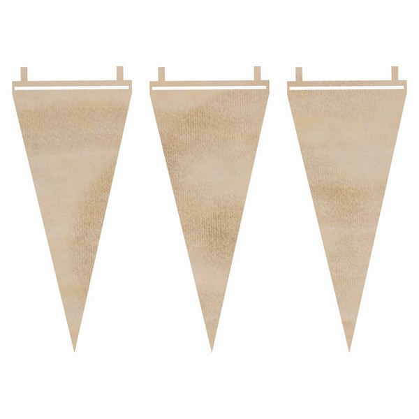 Wood Flourishes-Long Pennants 3/Pkg