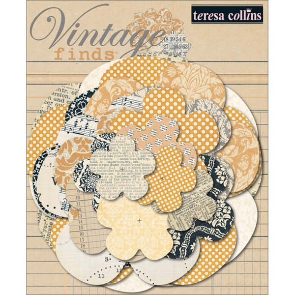 Vintage Finds Paper Flower Layers-