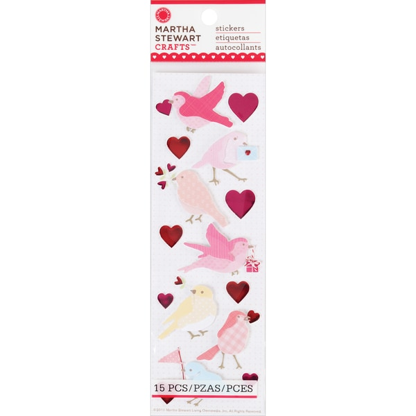 Martha Stewart Valentine Stickers-Enchanted Woodland Bird