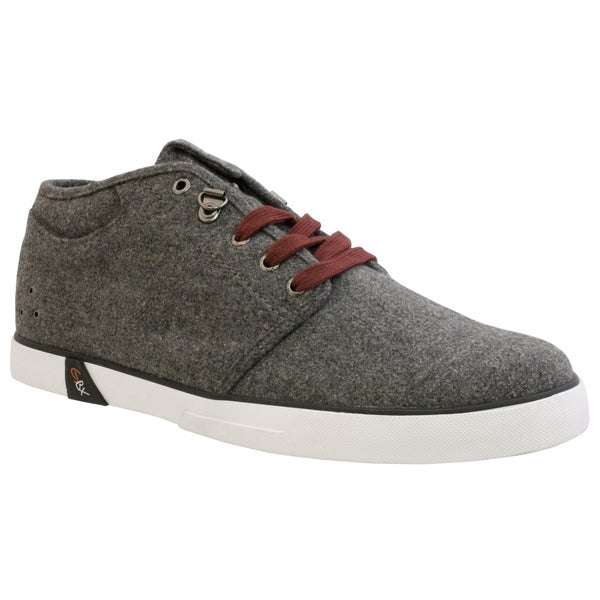 GBX Men's Charcoal French Wool Casual Shoes