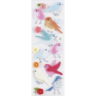 Martha Stewart Valentine Stickers-Stitched Bird