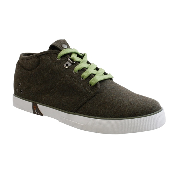 GBX Men's Olive French Wool Casual Shoes