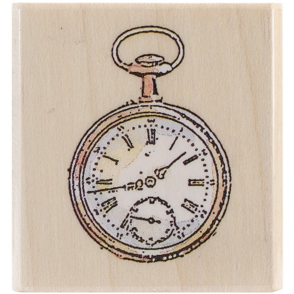 """Penny Black Mounted Rubber Stamp 1.5""""X1.5""""-Time Peace"""