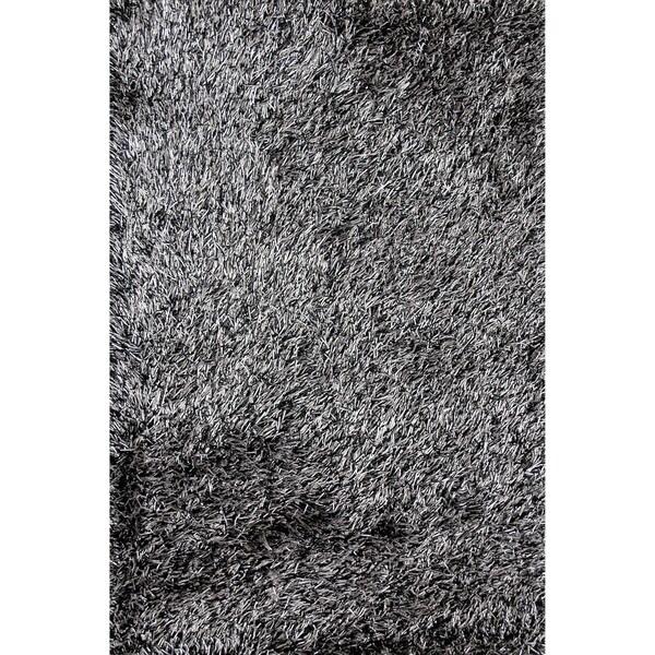Hand-tufted Rocco Sliver/ Black Rug (5'0 x 7'6)