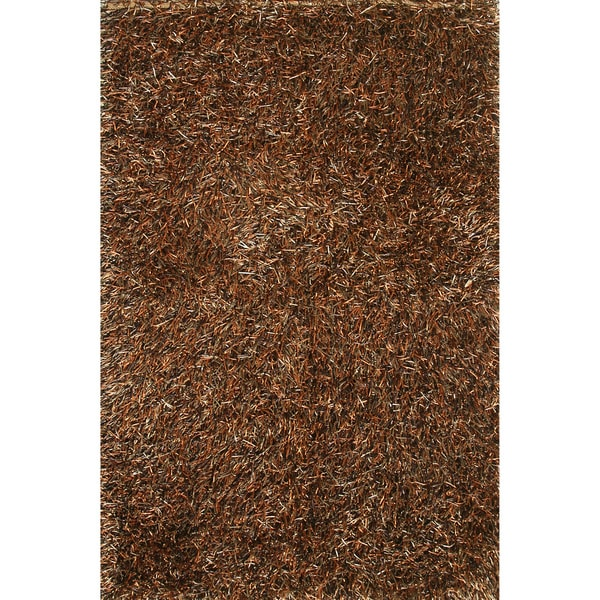 Hand-tufted Rocco Rust/ Brown Shag Rug (7'6 x 9'6)