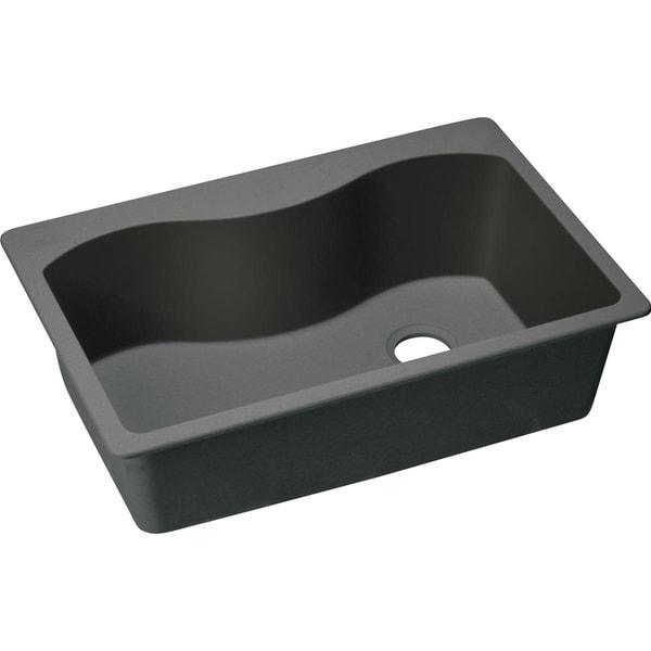 """Elkay Quartz Classic 33"""" x 22"""" x 9-1/2"""", Single Bowl Drop-in Sink - 33 x 22 x 9-1/2"""