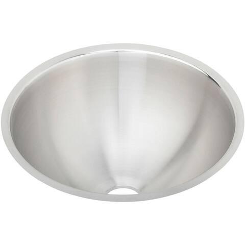 "Elkay Asana Stainless Steel 14-3/8"" x 14-3/8"" x 6"", Single Bowl Undermount Bathroom Sink"