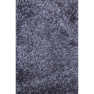 Hand-tufted Rocco Blue/ Black Shag Rug (7'6 x 9'6)