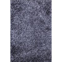 Hand-tufted Rocco Blue/ Black Shag Rug - 7'6 x 9'6