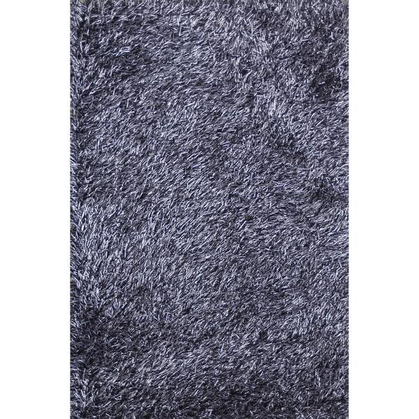 Hand-tufted Rocco Blue/ Black Shag Rug - 7'6 x 9'6