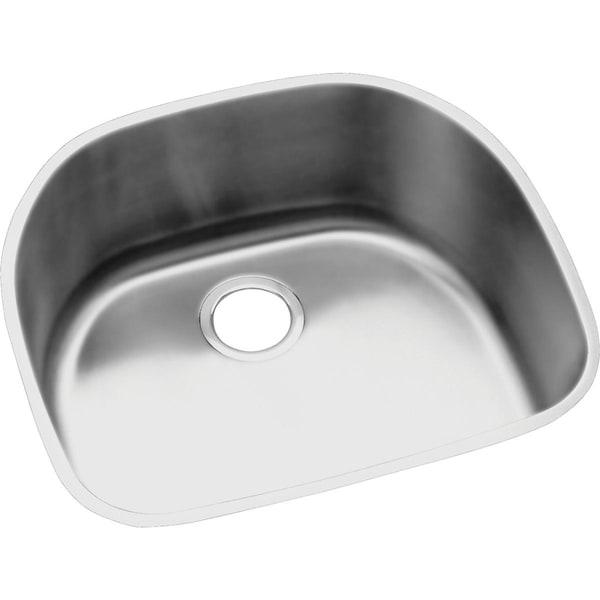 """Elkay Lustertone Stainless Steel 23-5/8"""" x 21-1/4"""" x 7-1/2"""", Single Bowl Undermount Sink"""