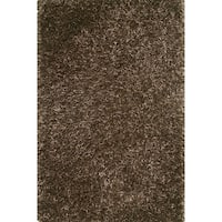 Hand-tufted Rocco Brown Shag Rug - 5' x 7'6