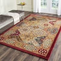 Safavieh Handmade Heritage Traditional Bakhtiari Multi/ Red Wool Rug - 10' x 10' square