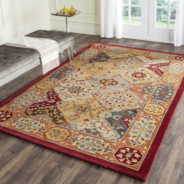 Safavieh Handmade Heritage Traditional Bakhtiari Multi/ Red Wool Rug (10' Square)