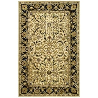 Safavieh Handmade Heritage Timeless Traditional Ivory/ Black Wool Rug (5' x 8')