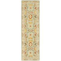 Safavieh Handmade Heritage Timeless Traditional Light Blue/ Ivory Wool Rug - 2'3 x 22'