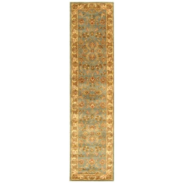 Safavieh Handmade Heritage Timeless Traditional Blue/ Beige Wool Rug (2'3 x 6')