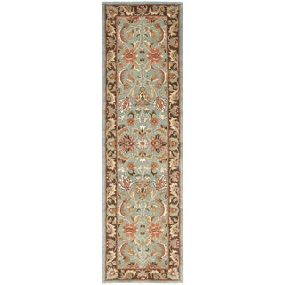Safavieh Handmade Heritage Timeless Traditional Blue/ Brown Wool Rug (2'3 x 22')