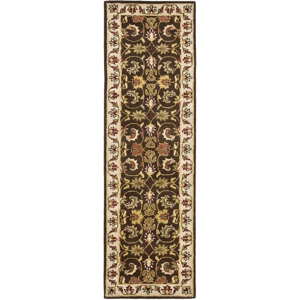 Safavieh Handmade Heritage Timeless Traditional Brown/ Beige Wool Rug (2'3 x 14')