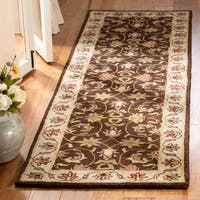 "Safavieh Handmade Heritage Timeless Traditional Brown/ Beige Wool Rug - 2'3"" x 6' Runner"