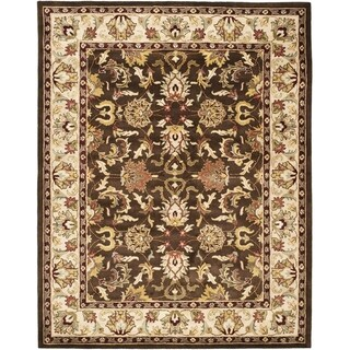 Safavieh Handmade Heritage Timeless Traditional Brown/ Beige Wool Rug (6' x 9')