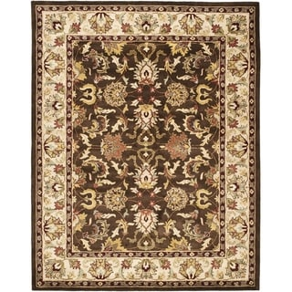 Safavieh Handmade Heritage Timeless Traditional Brown/ Beige Wool Rug (9' x 12')