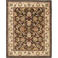 Safavieh Handmade Heritage Timeless Traditional Brown/ Beige Wool Rug - 9' x 12'