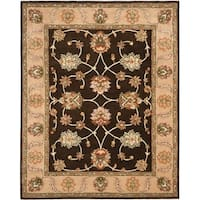 "Safavieh Handmade Heritage Timeless Traditional Black/ Beige Wool Rug - 7'-6"" x 9'-6"""
