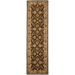 Safavieh Handmade Heritage Timeless Traditional Brown/ Ivory Wool Rug (2'3 x 6')