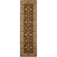 Safavieh Handmade Heritage Timeless Traditional Brown/ Ivory Wool Rug - 2'3 x 6'