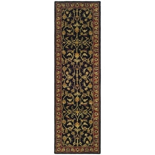 Safavieh Handmade Heritage Timeless Traditional Black/ Red Wool Rug (2'3 x 6')